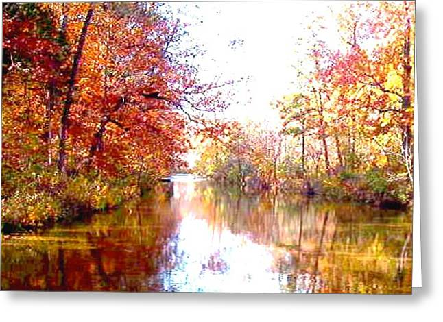 Autumn In The Ozark Mountains Greeting Card by Brian Hubmann