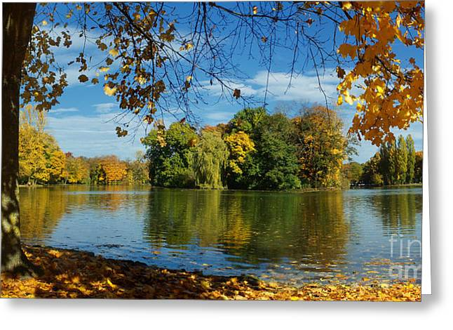 Rudi Prott Greeting Cards - Autumn In The Park 2 Greeting Card by Rudi Prott