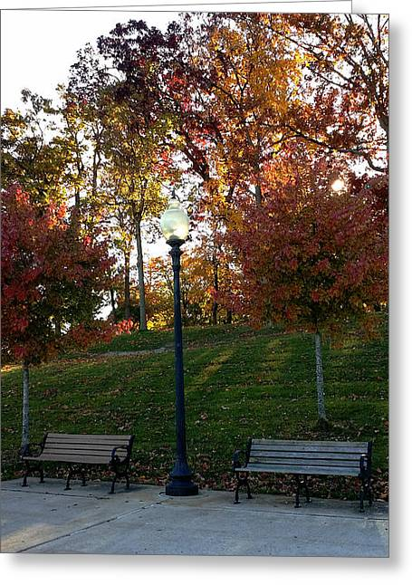 In 1812 Greeting Cards - Autumn in the Park Greeting Card by Michael Rucker