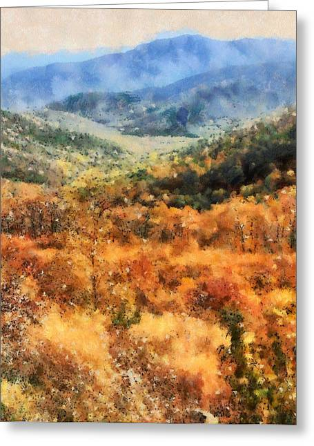 National Mixed Media Greeting Cards - Autumn In The Shenandoah Valley Greeting Card by Dan Sproul