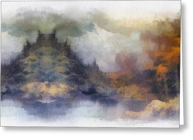 Texture Snow Scapes Greeting Cards - Autumn In The USA  Photo Art Greeting Card by Thomas Woolworth