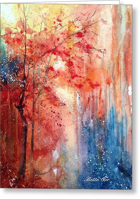 Recently Sold -  - Intrigue Greeting Cards - Autumn Intrigue Greeting Card by Bette Orr