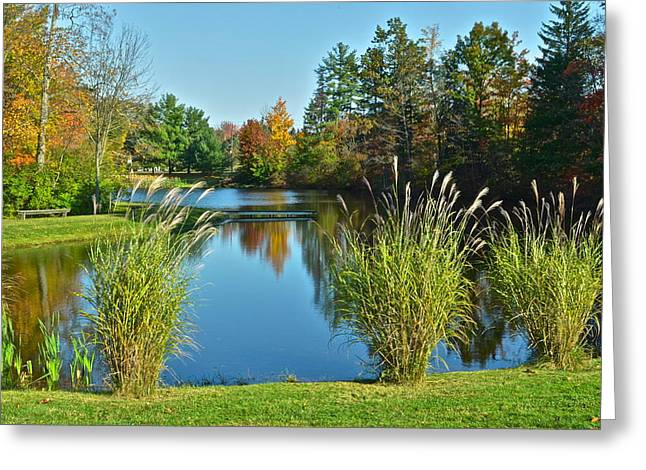 Crisp Greeting Cards - Autumn is on the Horizon Greeting Card by Frozen in Time Fine Art Photography