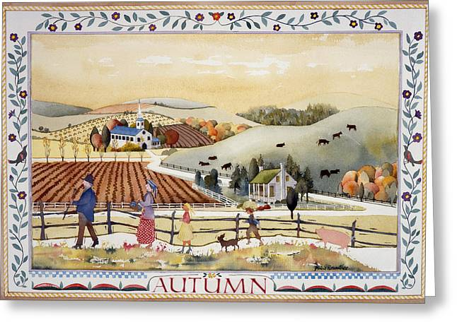 Julia Rowntree Greeting Cards - Autumn Greeting Card by Julia Rowntree