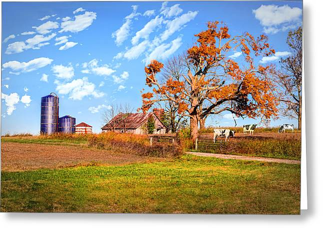 Fall Grass Greeting Cards - Autumn Kentucky Farm Greeting Card by Mary Timman