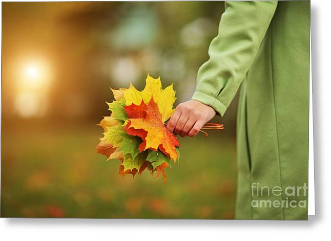 Autumn Greeting Card by Konstantin Sutyagin