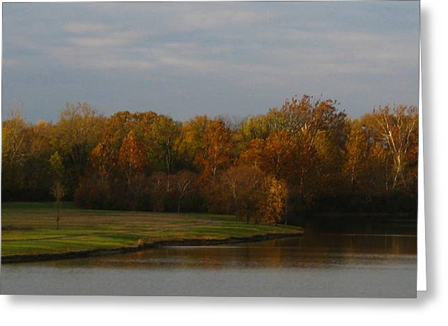 Indiana Autumn Greeting Cards - Autumn Lake Greeting Card by Dan McCafferty