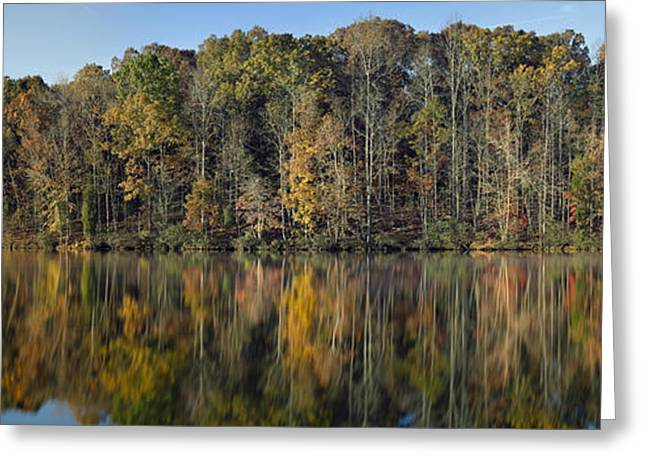 Thomasville Greeting Cards - Autumn Lake View 2 Greeting Card by Patrick M Lynch
