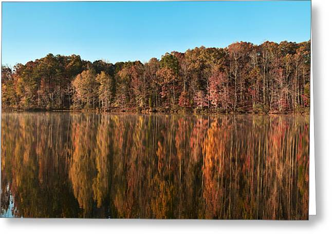 Thomasville Greeting Cards - Autumn Lake View 3 Greeting Card by Patrick M Lynch