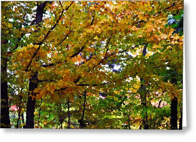 Branch Greeting Cards - Autumn leaves 4 Greeting Card by Lanjee Chee
