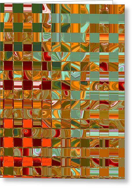 Autumn Colored Quilts Greeting Cards - Autumn Leaves 8 Greeting Card by Brooks Garten Hauschild
