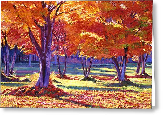 Birch Tree Greeting Cards - Autumn Leaves Greeting Card by David Lloyd Glover