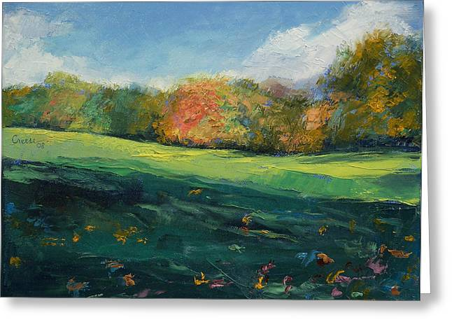 Autumn Leaves Greeting Card by Michael Creese