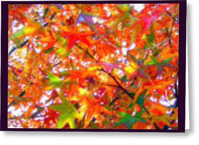 Park Scene Mixed Media Greeting Cards - Autumn Leaves Through Filtered Sunlight Cropped X 2 Greeting Card by L Brown