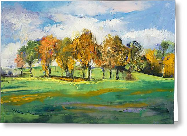 Autumn Light Greeting Card by Michael Creese