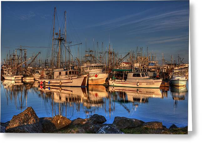 French Creek Marina Greeting Cards - Autumn Light Greeting Card by Randy Hall