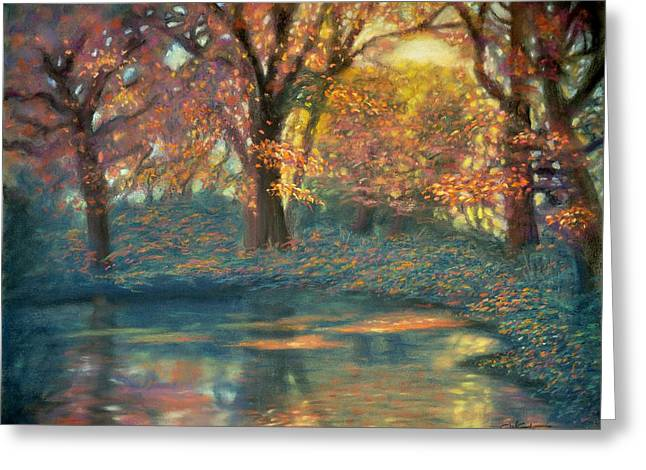 Sun Rays Pastels Greeting Cards - Autumn Light Greeting Card by Wade Starr