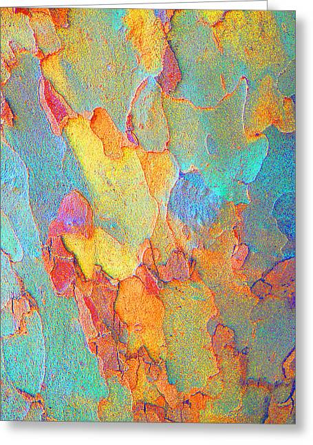 Autumn London Plane Tree Abstract 2 Greeting Card by Margaret Saheed