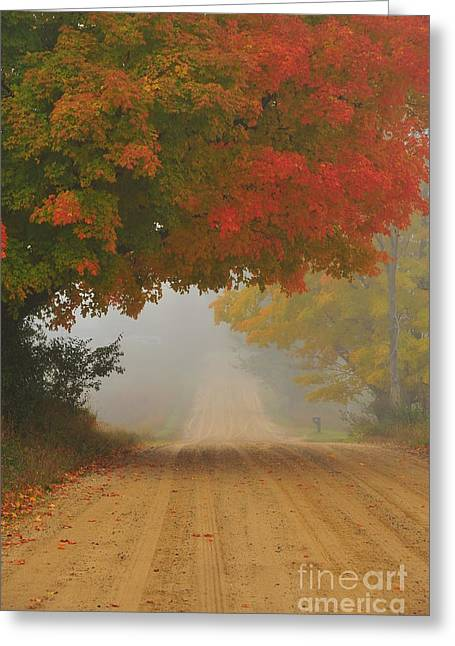 Rural Greeting Cards - Autumn Luminaire 4 Greeting Card by Terri Gostola