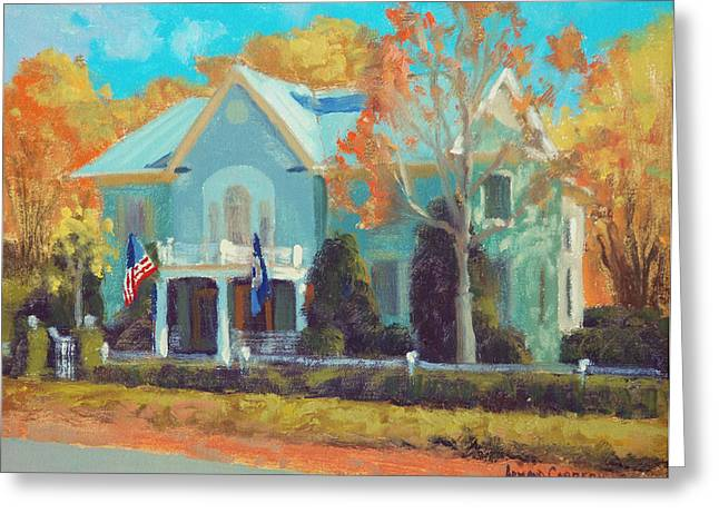 Cabrera Greeting Cards - Autumn Magic Claiborne House Greeting Card by Armand Cabrera