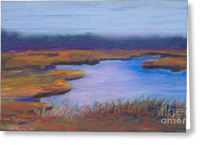 Cape Cod Pastels Greeting Cards - Autumn Marsh Greeting Card by Claire Norris