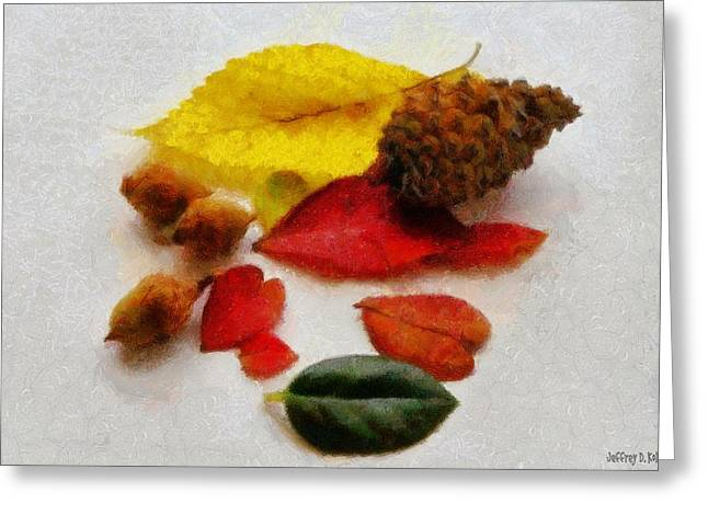 Nut Greeting Cards - Autumn Medley Greeting Card by Jeff Kolker