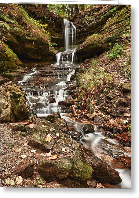 Horseshoe Falls Greeting Cards - Autumn Memories Greeting Card by James Marvin Phelps