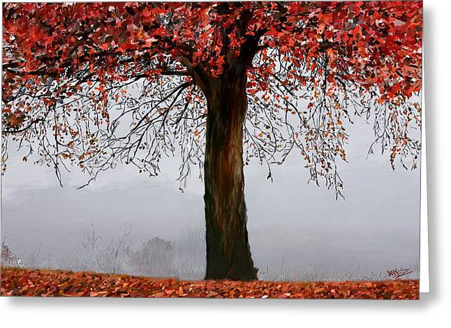 Nature Scene Digital Greeting Cards - Autumn Mist Greeting Card by James Shepherd