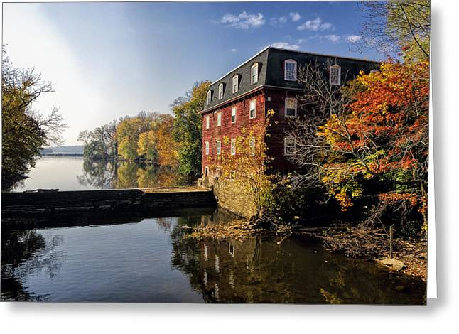 Kingston Greeting Cards - Autumn Morning at the Kingston Mill Greeting Card by George Oze