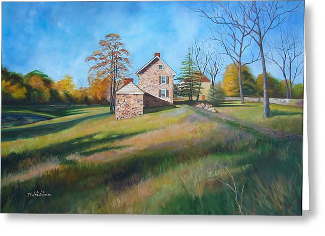 Outbuildings Greeting Cards - Autumn Morning Greeting Card by Diane Hutchinson