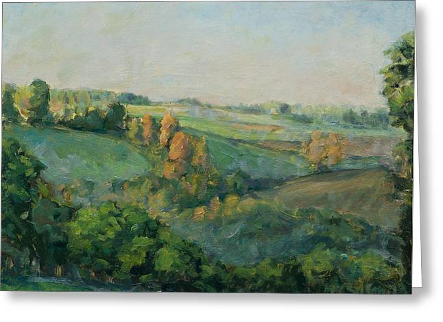 Autumn Landscape Paintings Greeting Cards - Autumn morning Greeting Card by Marco Busoni