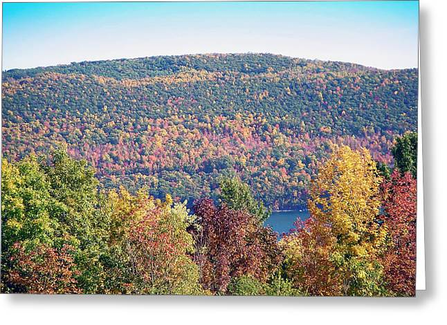 Fingerlakes Greeting Cards - Autumn Mountain Greeting Card by Aimee L Maher Photography and Art