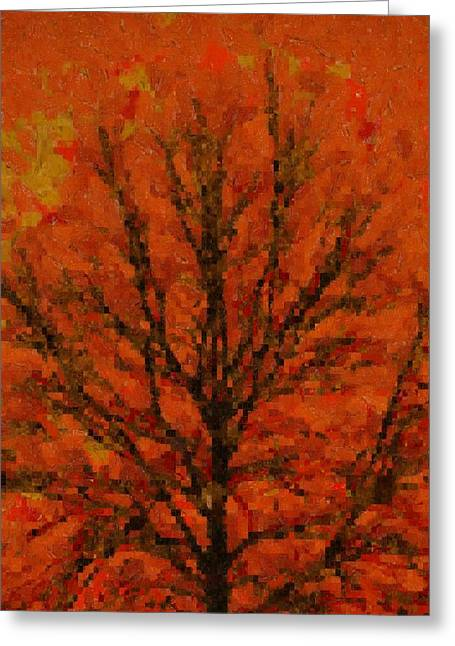 Stood Mixed Media Greeting Cards - Autumn Muse Mosaic Melody Greeting Card by Dan Sproul