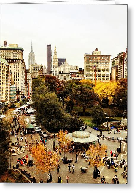 Union Square Photographs Greeting Cards - Autumn - New York Greeting Card by Vivienne Gucwa