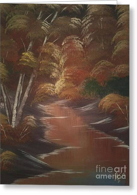 Autumn Greeting Cards - Autumn Night Greeting Card by Collin A Clarke