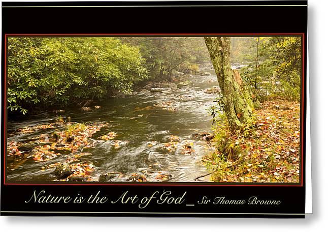 Mud Season Digital Art Greeting Cards - Autumn on a Mountain Stream Greeting Card by A Gurmankin