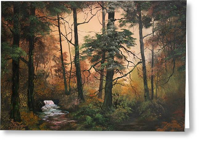 Sledge Training Greeting Cards - Autumn On Cannock Chase Greeting Card by Jean Walker