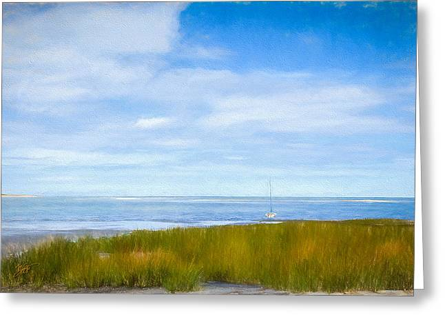 Fall Grass Mixed Media Greeting Cards - Autumn On Cape Cod Bay Greeting Card by Michael Petrizzo
