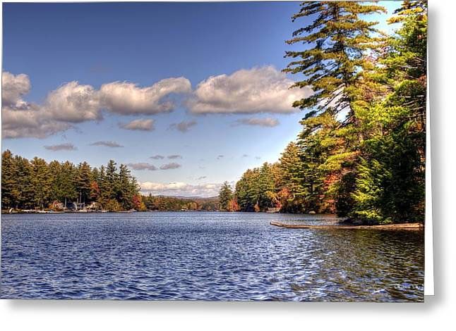 Lake Washington Pyrography Greeting Cards - Autumn on Highland Lake Greeting Card by Monica Scanlan