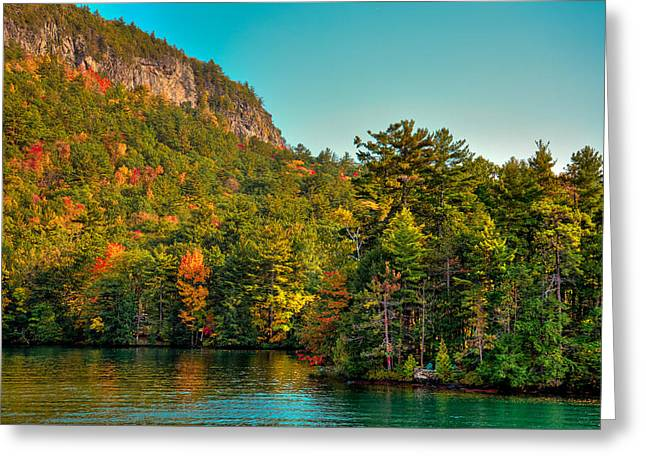 Aderondacks Greeting Cards - Autumn on Lake George Greeting Card by David Patterson