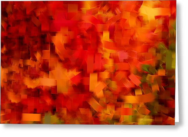 Red Maple Trees Greeting Cards - Autumn On My Mind Greeting Card by Lourry Legarde