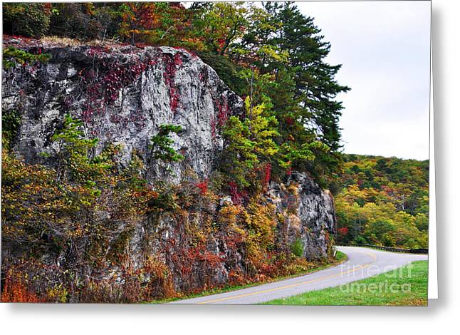 Blue Ridge Parkway In Fall Greeting Cards - Autumn on The Blue Ridge Parkway Greeting Card by Lydia Holly