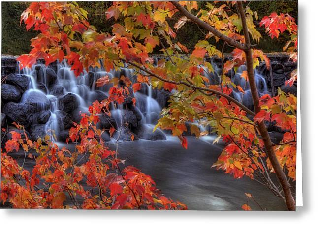 Autumn On The Contoocook River Greeting Card by Joann Vitali