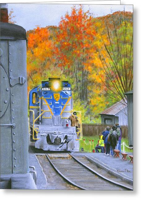 D Pastels Greeting Cards - Autumn on the D and H Greeting Card by Karen Elkan