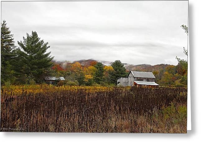 Autumn On The Farm Greeting Card by Daniel Behm