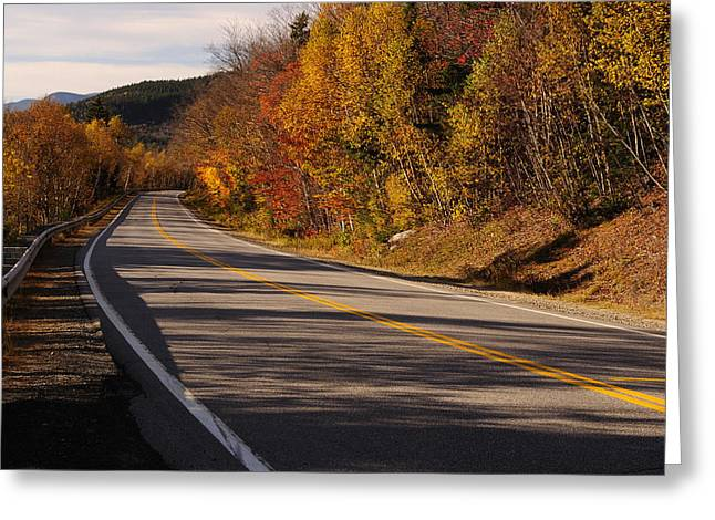 Foliage In White Mountains Greeting Cards - Autumn on the Kancamagus Highway Greeting Card by Luke Moore