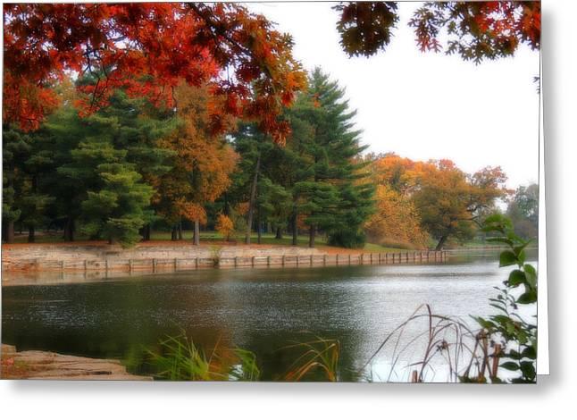 Herrick Lake Greeting Cards - Autumn on the Lake Greeting Card by Teresa Schomig