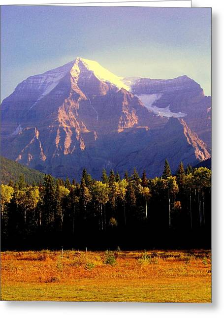 """high Peaks"" Greeting Cards - Autumn on the Mount Greeting Card by Karen Wiles"