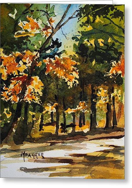 Recently Sold -  - Natchez Trace Parkway Greeting Cards - Autumn On The Natchez Trace Greeting Card by Spencer Meagher