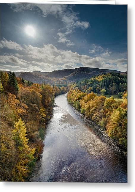 Autumn Art Greeting Cards - Autumn on the River Garry Greeting Card by Dave Bowman
